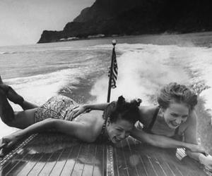 beach, boy, and girls image