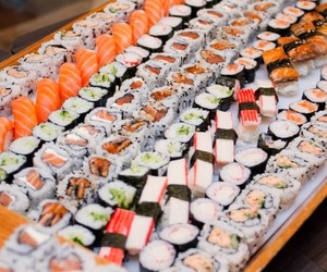 comida, food, and sashimi image