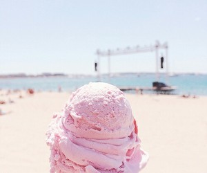 ice cream, summer, and beach image