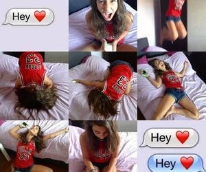 love, girl, and hey image