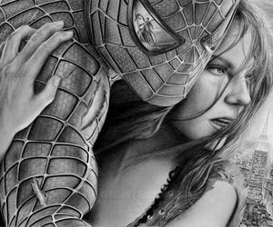 spiderman, love, and draw image
