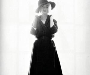 actress, black and white, and fashion image
