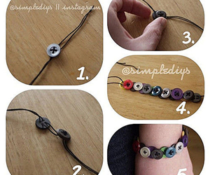 diy, buttons, and bracelet image