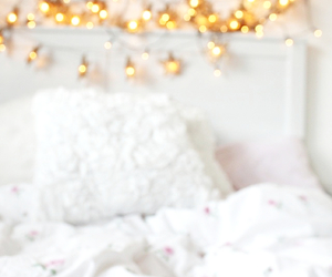 white, bedroom, and place image