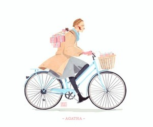 pink, cute, and bike image