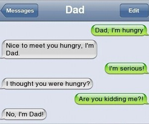 dad, funny, and hungry image