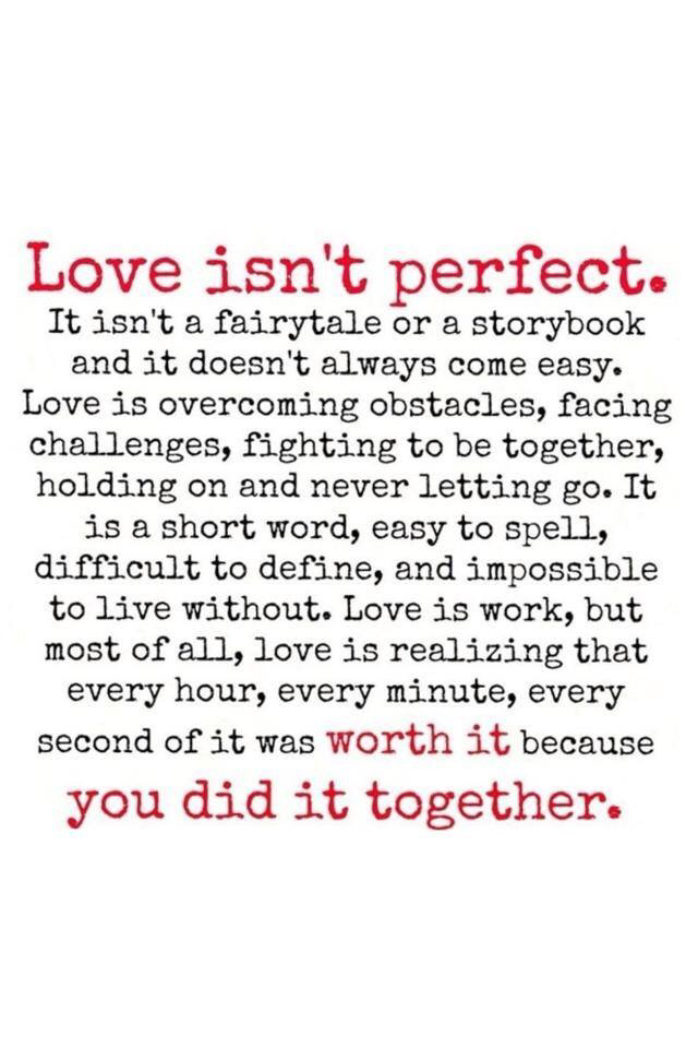 Love isn\'t perfect shared by HoneyBabe️ on We Heart It