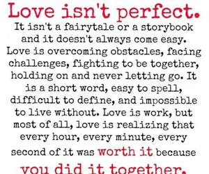 love isn't perfect, perfect, and love image