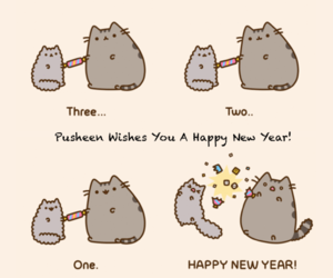 pusheen, cat, and cute image