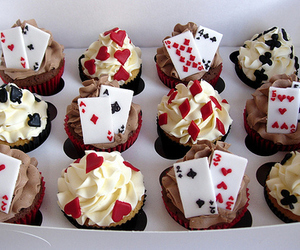 cupcake, sweet, and cards image
