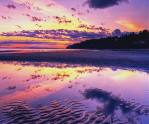 sunset, colorful, and summer image