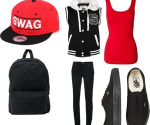 swag, black, and red image