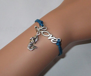 mermaid, personalized, and leather bracelet image