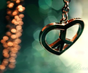 peace, love, and heart image