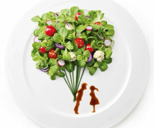 food, love, and salad image