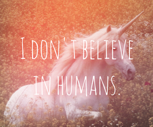 unicorn, believe, and humans image