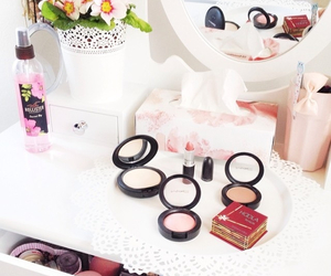 benefit, mac, and white image