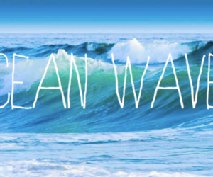 ocean, waves, and summer image