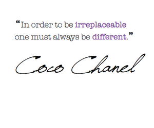 coco chanel and text image