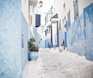 blue, street, and Greece image