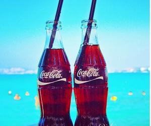 summer, coca cola, and drink image