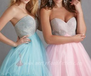 babydoll, strapless, and homecoming dress image