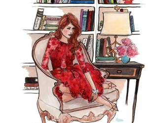 illustration, drawing, and dress image