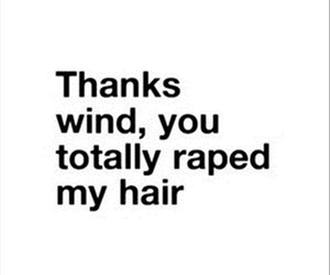 hair, wind, and funny image