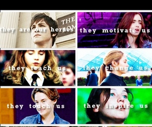 harry potter, percy jackson, and the fault in our stars image
