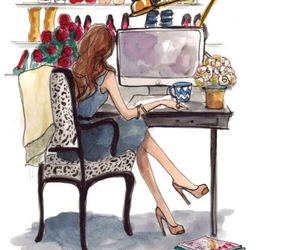 girl, art, and shoes image