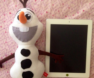 frozen, olaf, and plush toy image