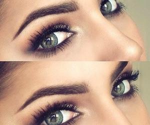 eyes, make up, and green eyes image