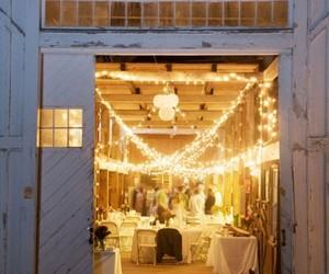 wedding, light, and barn image