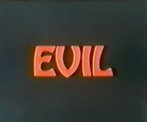evil and text image