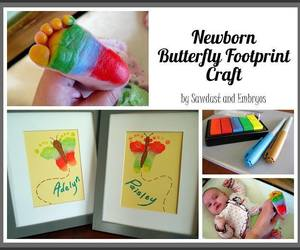 butterfly, diy, and footprint image