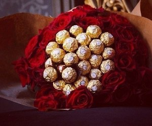 bouquet, chocolates, and red image