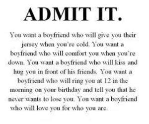 boyfriend, quote, and admit it image