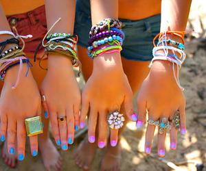 nails, bracelet, and summer image