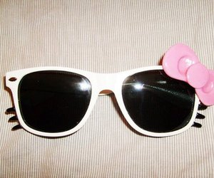hello kitty, sunglasses, and glasses image