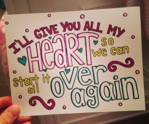 heart, over again, and one direction image