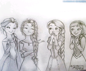merida, rapunzel, and elsa image