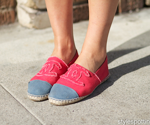 blue, shoes, and street style image