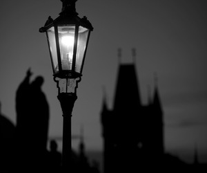 antique, Darkness, and lamppost image