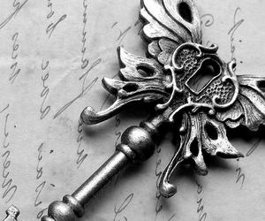 key, black and white, and photo image