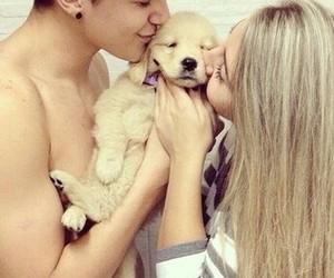 couple, boy, and dog image