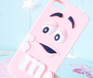 m&m's, pink, and coque image