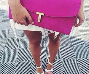 bag, fuxia, and style image