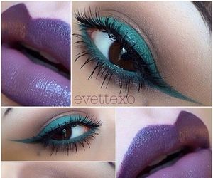 lips, makeup, and violet image