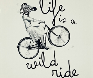quote, life, and ride image