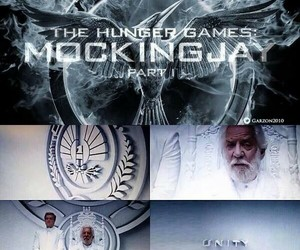 mockingjay, snow, and the hunger games image
